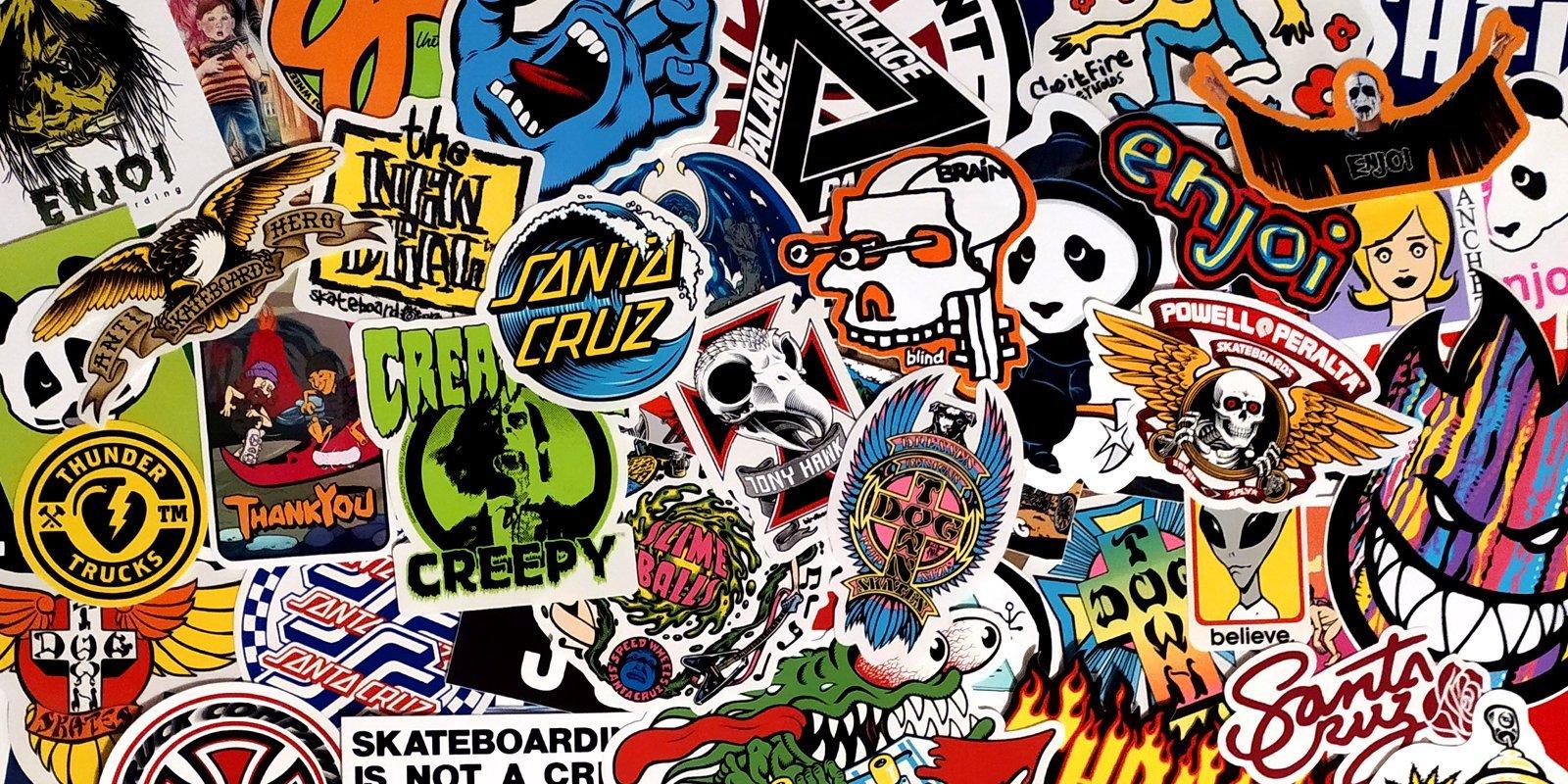 Stickers per Skateboard