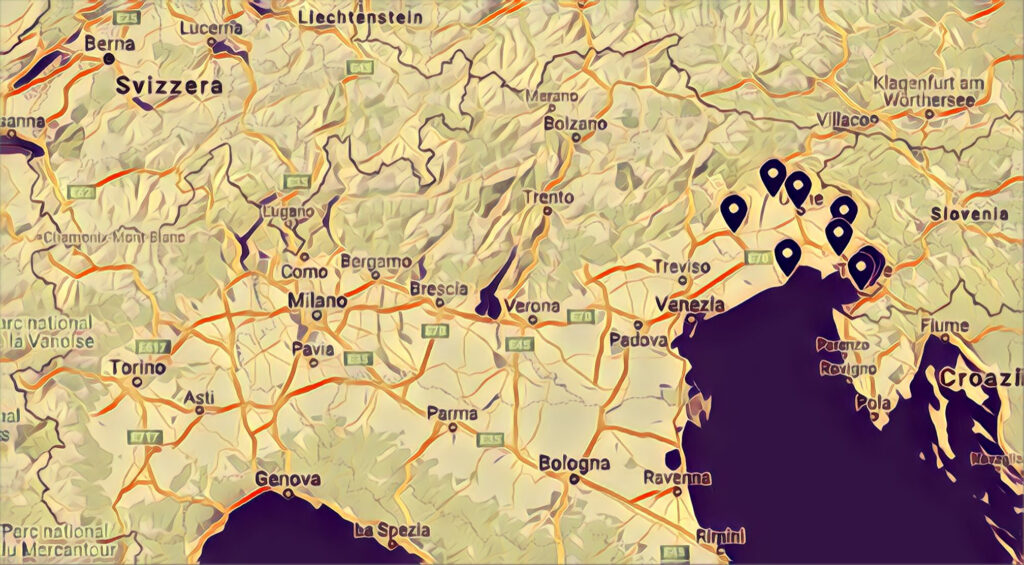 Mappa Skatepark Friuli Venezia Giulia
