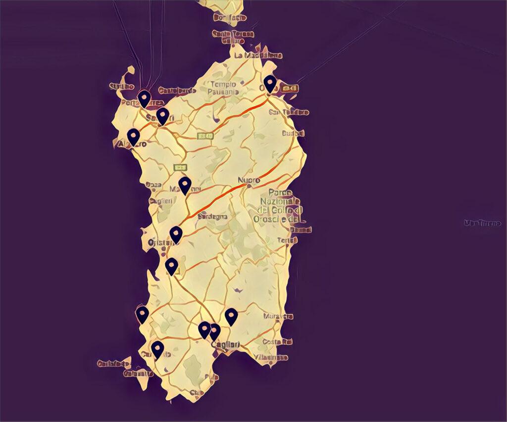 Mappa Skatepark Sardegna