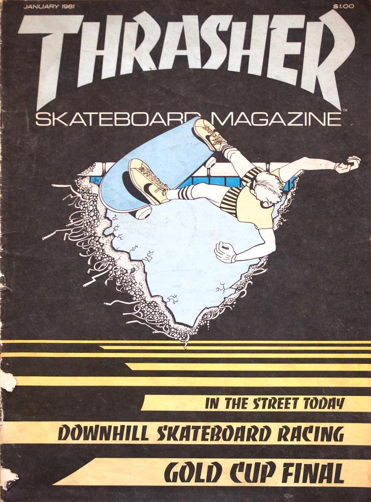 Thrasher Skateboard Magazine   Prima copertina Gennaio 1981