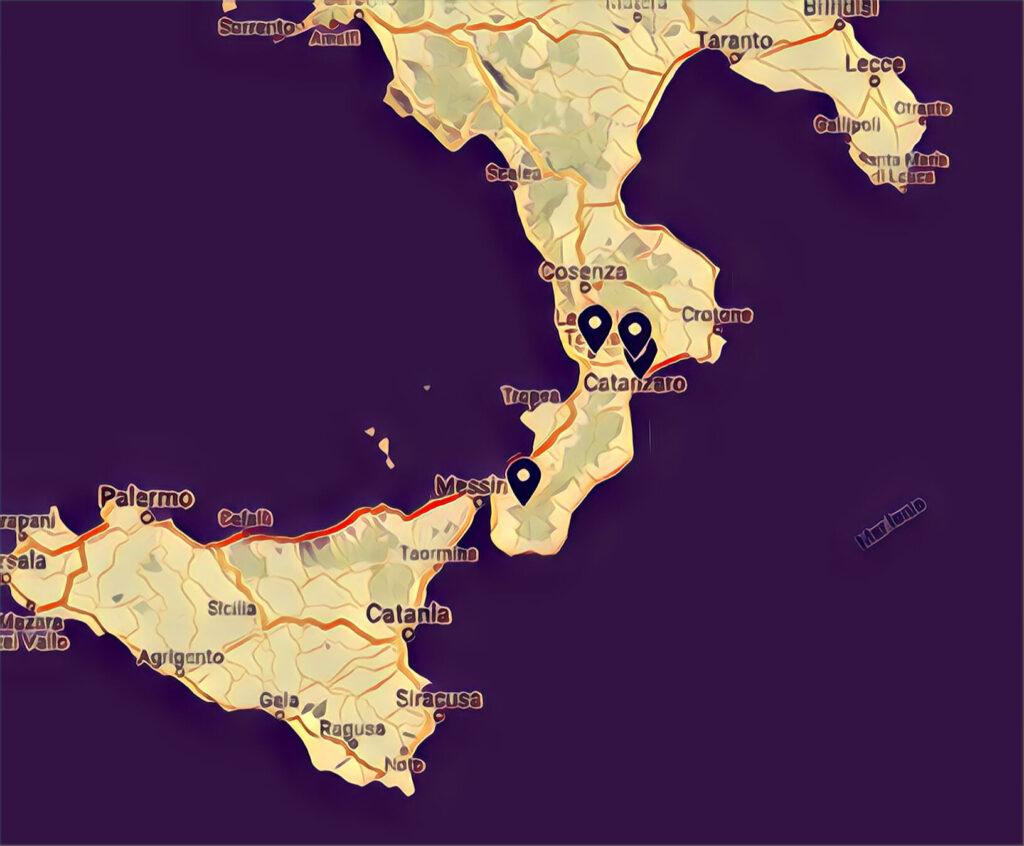 Mappa Skatepark Calabria