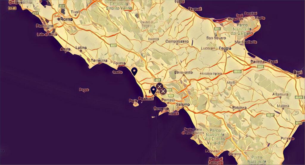 Mappa Skatepark Campania